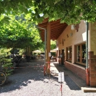 Foto zu Paddelweiher-Hütte: Eingang zum Biergarten