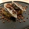 Gedämpfte Gyoza 70°- Blutwurst – Karamellisierte Schokolade – Miso Sauerkraut