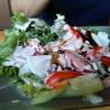 Salat mit üppigem Dressing