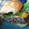 Der Texas-Burger im Anschnitt