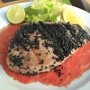 Der Tuna bietet zum Tataki!