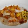 Seeteufel & Garnele • Krustentierfond • Zucchini • Kartoffelchips