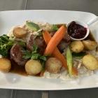 Foto zu SMAC's   Restaurant & Café: Medaillons vom Glashütter Hirsch mit Rosmarinkartofeln und Rahmpfifferlingen