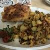 Bratkartoffeln und Fleisch