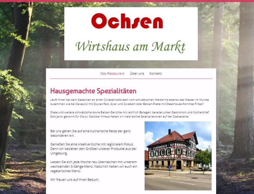 Bild zur Nachricht von Ochsen - Wirtshaus am Markt