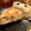 Cheesecake con banana y manzana caramelizada