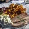 3-erlei Matjes – Filetteller mit Fehmarnscher Edelmatjes, Rauchmatjes & Sherrymatjes mit Hausfrauensauce und Bratkartoffeln