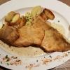 3 Fischfilets mit Dijon-Senfsauce, Bratkartoffeln