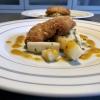 Backfisch vom Wels / Curry-Ananas / Spargel-Linsensalat