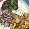 Hausgemachte Sülze, Bratkartoffeln, Remoulade