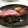 """American Beef, Pommes """"Macaire"""" und Speckbohnen"""