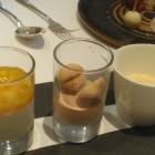 Foto zu Gourmetrestaurant Zur Post: Panna, Macadamia, Zabaione