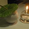 Blumendeko am Tisch