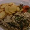 Lammfilet mit frischen Champignons und Sahnesauce