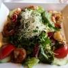 Blattsalat mit Riesengarnelen