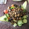 Salat mit gebratenen Pilzen