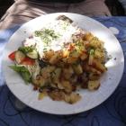 Foto zu Gaststätte Thiele-Schenke: Spezialität der Thieleschenke: Selbstgemachte Sülze mit Bratkartoffeln