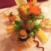 Ikarimi-Lachs, rote Garnele, Sushi