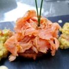 Foto zu Café-Restaurant ANNO 1900: Hausgebeizter Lachs mit Guacamole