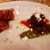 Fleischküchla vom Lamm, Schafskäse, Pimientos