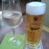 Weißweinschorle & Radeberger Pilsner