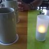 Tischdeko mit Bier im Krug