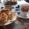 Apfel-Weincreme Torte mit Mandeln