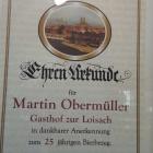 Foto zu Alpengasthof Zur Loisach: Ehren Urkunde