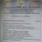 Foto zu Alpengasthof Zur Loisach: Gasthof zur Loisach Auszug aus der Speisekarte