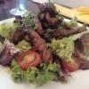Salat mit Rumpsteakstreifen