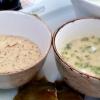 Senfsauce und Estragon-Vinaigrette mit Ei