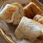 Foto zu Restaurant Makedonia: Brot zu den Muscheln