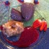 Dunkle Mousse au Chocolade mit Bratapfelkompott