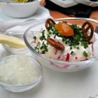 Foto zu Weinstube Zehntkeller: Weißer Käse mit allem (was dazu gehört)