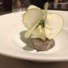 Fourme d'Ambert / geeister Topfen / eingelegte Rosinen, Zitrone, Minze