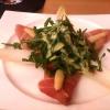 Spargel-Basilikum-Salat mit Ahrweiler Rauchfleisch und Rucola