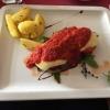Entrecote alla Pizzaiola-Argentinisches Rinderentrecote mit Knoblauch, Oliven, Oregano in Cocktailtomatensoße