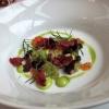 Borschtsch - Dill, Tartar vom Rind und Lachsforellenkaviar