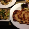 große Tellerschnitzel vom Schwäbisch-Hallischen Jungschwein in Butterschmalz gebraten mit gemischtem Salat (10,90 €)