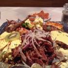 Foto zu Restaurant Sto Castello: Die volle Wucht des Fleisches...auf der Saloniki-Platte für Zwei