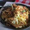 Tiroler Käsespätzle mit Beilagensalat (9,90€).