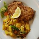 Foto zu Hotel Weinhaus Wiedemann: Mittagstisch: Schnitzel mit Bratkartoffeln u. Rosenkohl zu 6.80 €