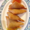 gebackene Wan-Tan Vorspeise