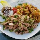 Foto zu Gaststätte Seppi's Futterkiste: Lyoner-Wurstsalat mit Bratkartoffeln