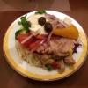 Ein Salat vom reichhaltigen Buffet