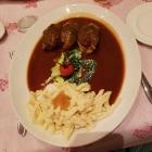 Foto zu Forelle · Historische Weinstube: Schweinebäckchen mit Spätzle, 08.12.18