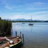 Blick zum See, vom Badestrand aus