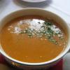 Weisse Bohnensuppe mit geräucherten Speckwürfelnn