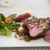 Steak vom jungen Wildschwein mit Waldpilzen
