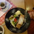Foto zu Historisches Hotel Restaurant Stampfermühle: Apfelstrudel mit Eis